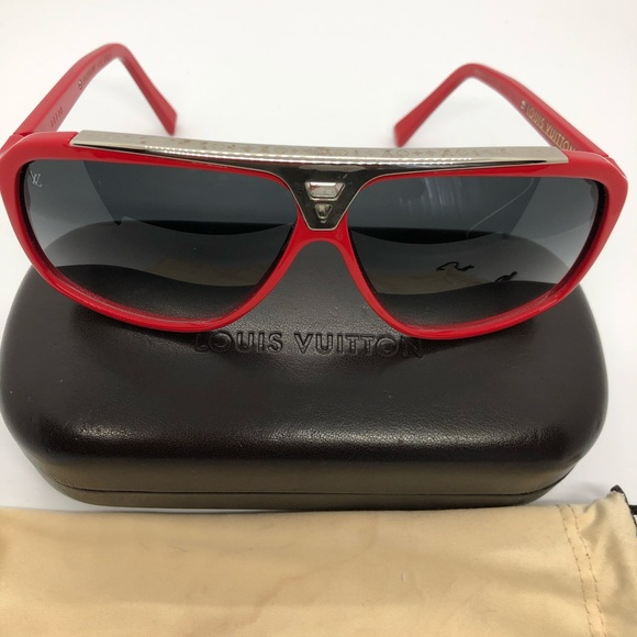 2d619181e4ab Louis Vuitton Accessories - Authentic LV Red Evidence sunglasses